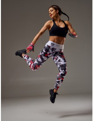 WOMEN'S LEGGINGS - CAMO gray&white