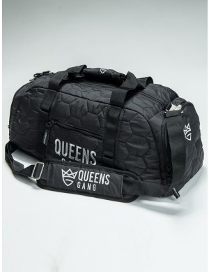 QUEENS BAG - Women`S Duffel SILVER&BLACK