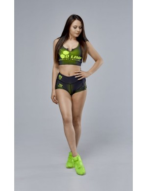 Women's Sports Bra OLIMP CREW BLACK & NEON