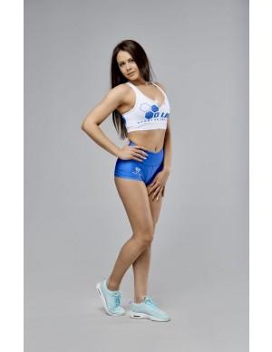 Women's Sports Bra OLIMP CREW WHITE & BLUE