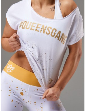Women's Rag Top FANCY white&gold