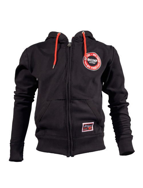 MEN'S HOODIE - STACKED BLACK