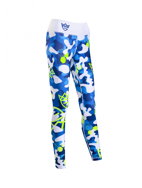 WOMEN'S LEGGINGS - CAMO blue&white