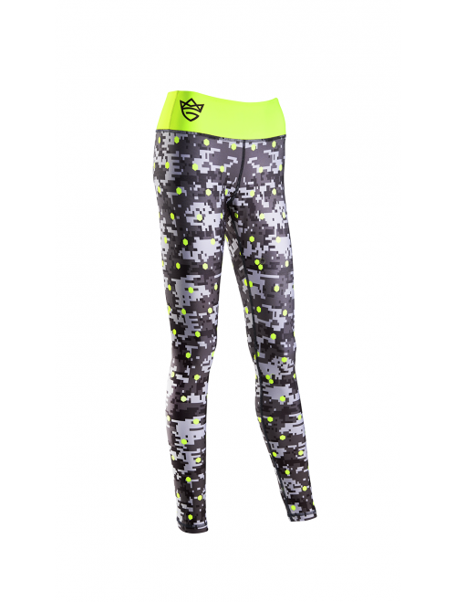 WOMEN'S LEGGINGS - DIGITAL CAMO gray