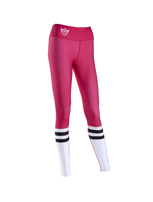 WOMEN'S LEGGINGS - HIGH SOCK pink&white