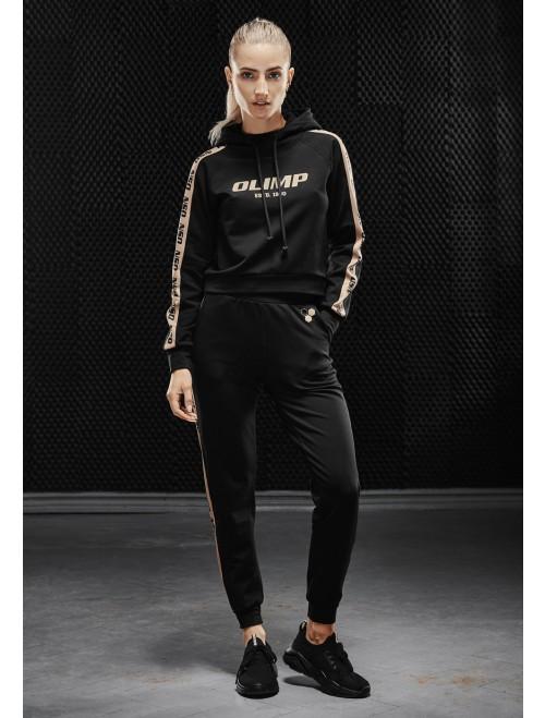 Olimp women's training pants - WMS TRACKSUIT BOTTOM GOLD SERIES BLACK
