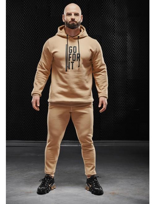 Olimp men's hoodie - MEN HOODIE GOLD SERIES BEIGE
