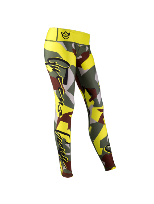 WOMEN'S LEGGINGS - CAMO LADY Green