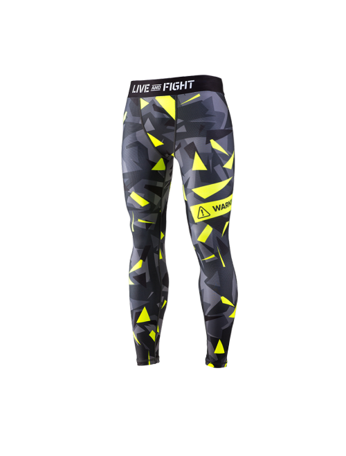 MEN'S LEGGINGS - ATHLETIC CAMO Lime