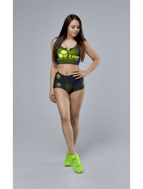 Women's HOT PANTS OLIMP CREW  BLACK & NEON