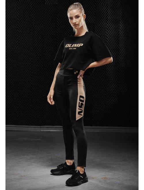 Olimp women's leggings - WMS LEGGINGS GOLD SERIES BLACK