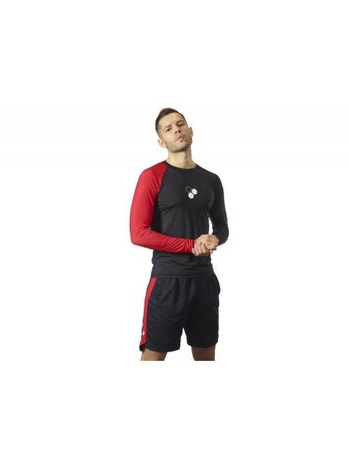 Men's Longsleeve Black & Red