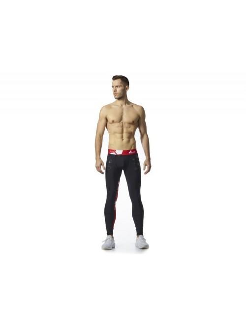 Men's Leggings Worokout Black & Red