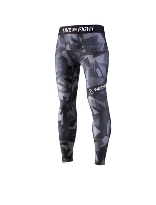 MEN'S LEGGINGS - ATHLETIC CAMO Black