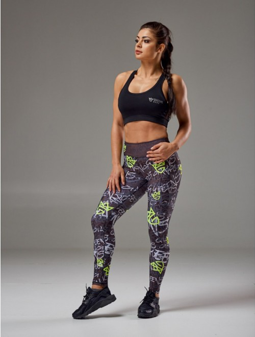 WOMEN'S LEGGINGS - GRAFFITI black