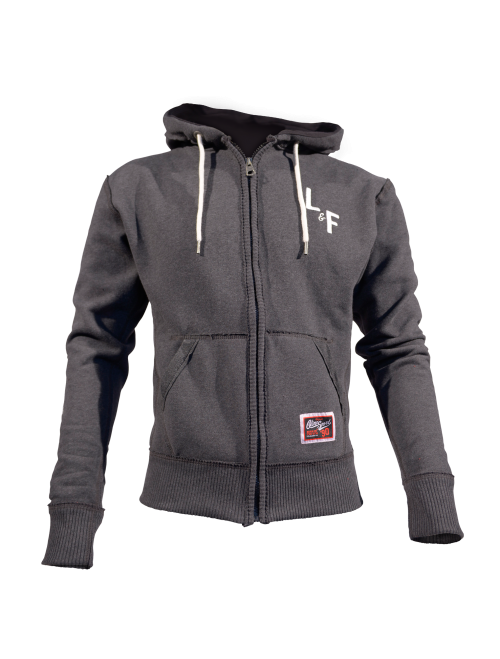 MEN'S HOODIE - STACKED CHARCOAL