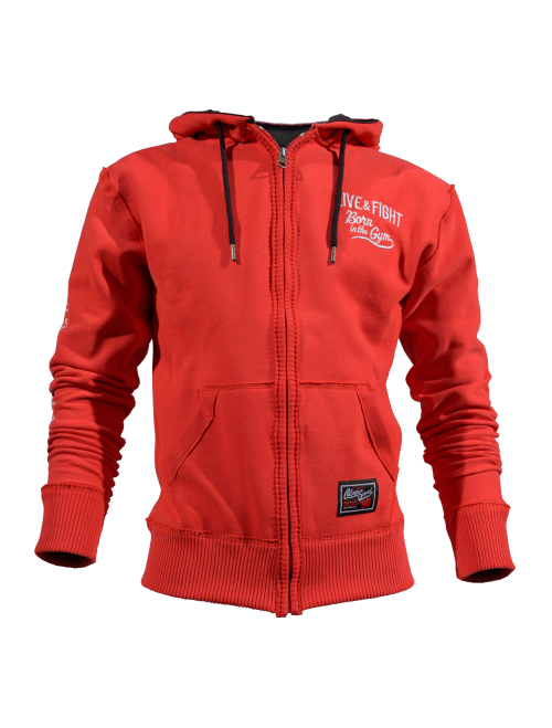 MEN'S HOODIE - STACKED RED