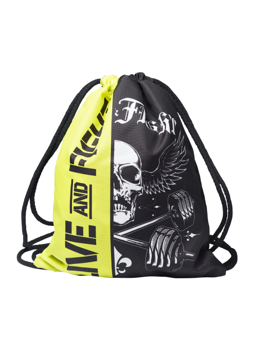 SPORT SACK BAG BLACK&YELLOW