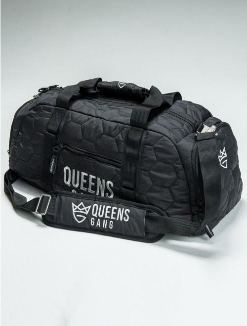 QUEENS BAG - Women`s Duffel SILVER&BLACK