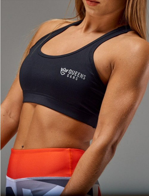 QUEENS GANG Women's Sports Bra - CLASSIC black