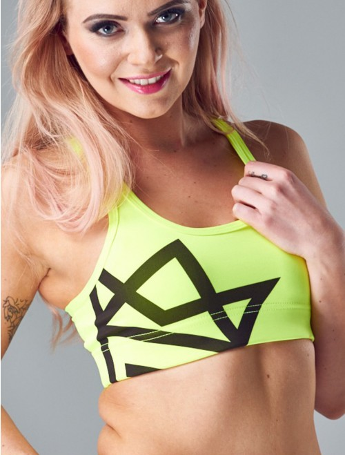 QUEENS GANG Women's Sports Bra - CLASSIC neon
