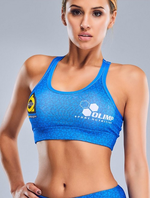 Women's Sports Bra - TdP blue&white